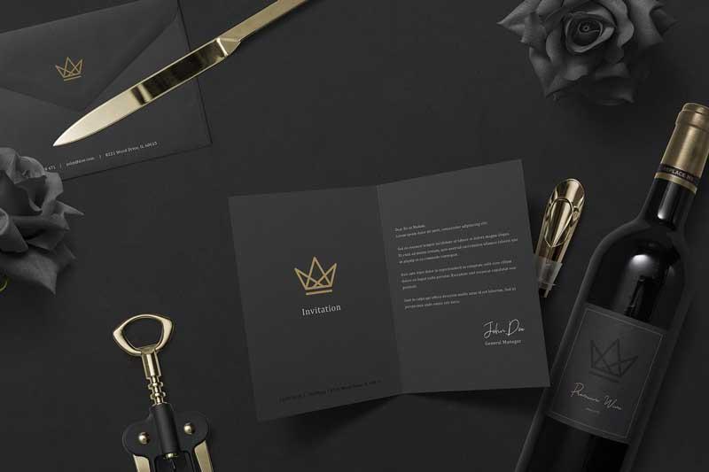 Black Branding Mockups Vol.3 3486145