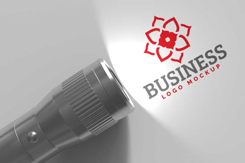 Flash-Light-Logo-Mockup