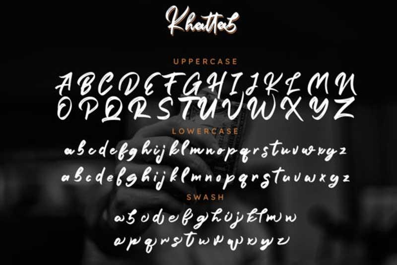 Creativefabrica - Khattab Script Font