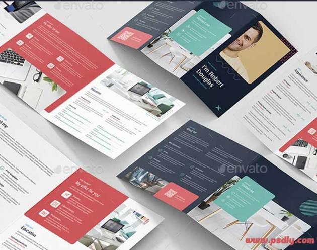 Resume Brochures Bundle Print Templates 5 in 1