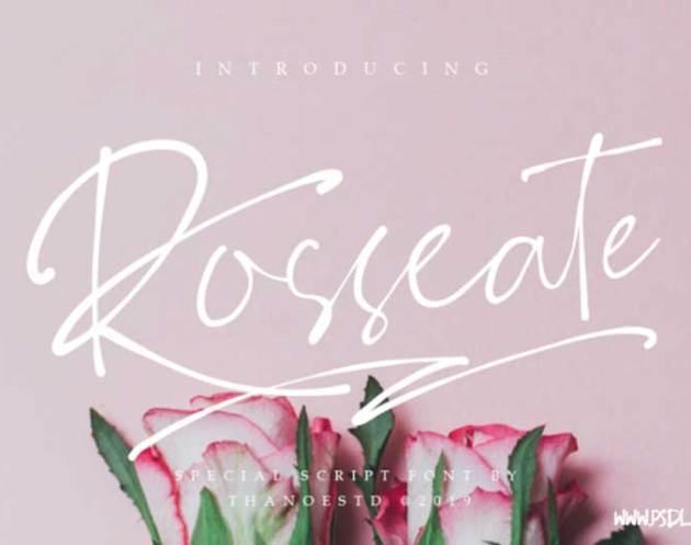 Rosseate Script Font Download