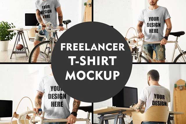 Freelancer T shirt MockUp