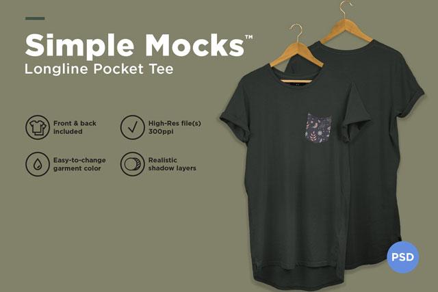 Longline T Shirt Mockup