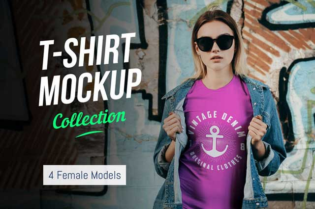 T-Shirt Mockup Collection 02