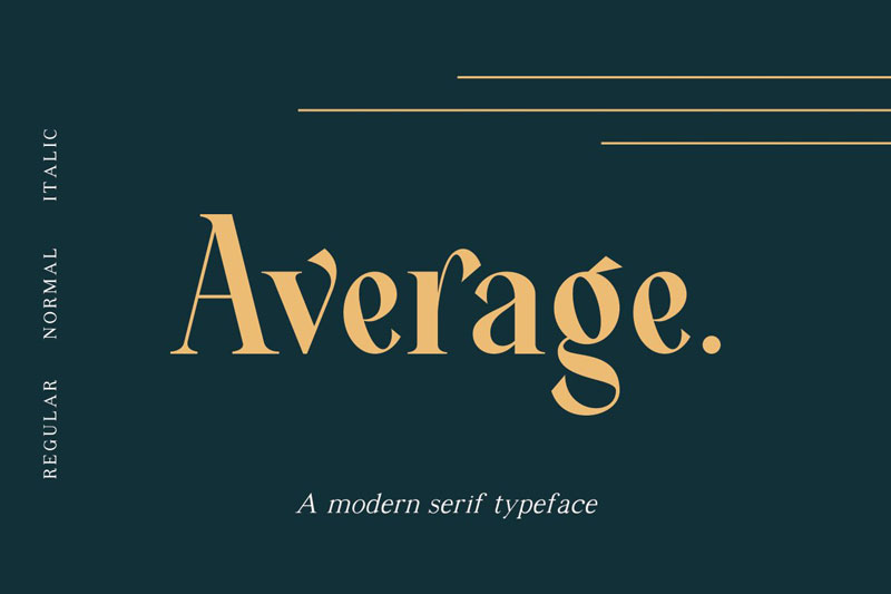 Average Modern Serif Typeface download