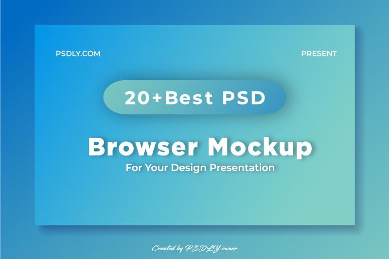 Best Free PSD Premium Browser Mockup In 2020