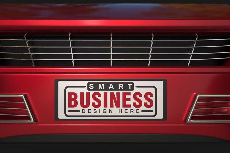 Car Plate Logo Mockup