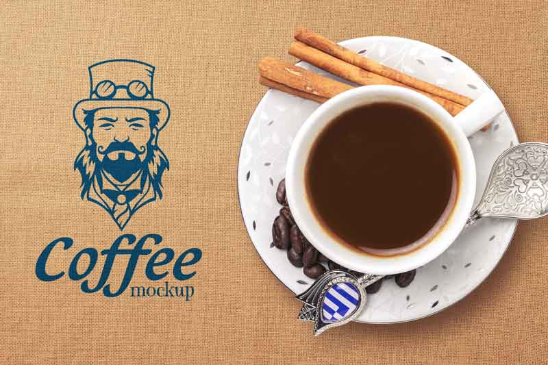 Coffee Cup Logo Mockup
