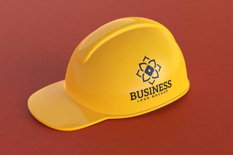 Construction Hat Mockup