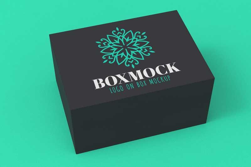 Dark Box and Color Logo Mockup