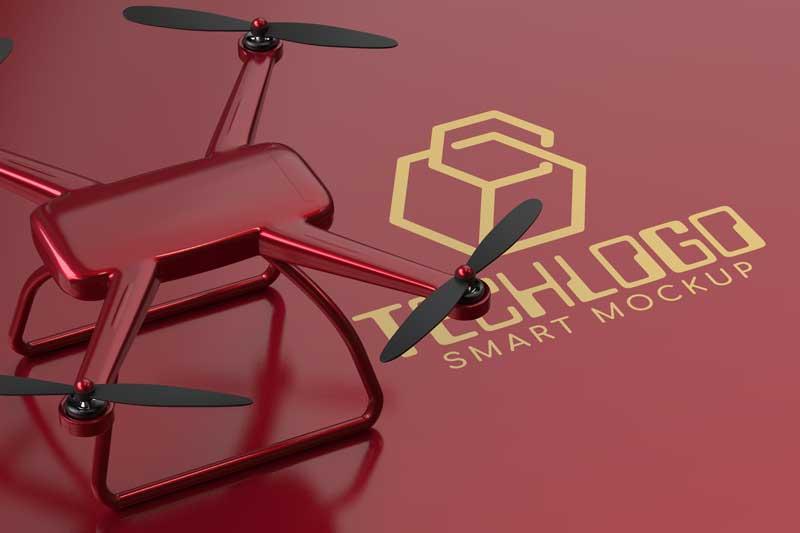 Drone Logo Mockup