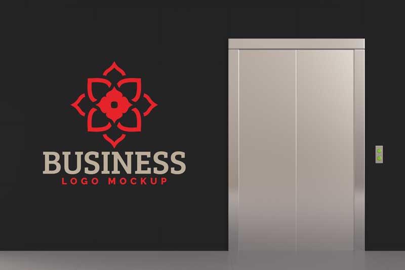 Elevator Logo Mockup