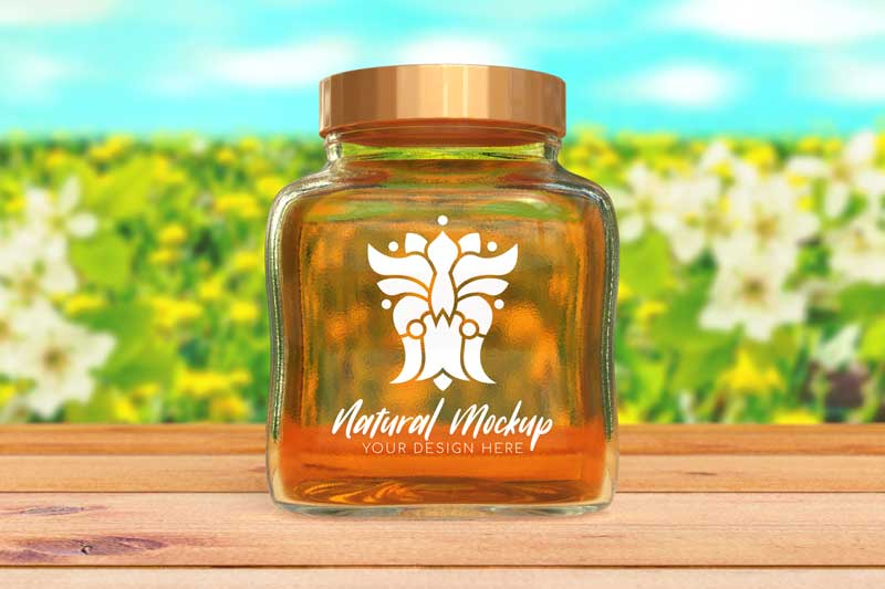 Jar Logo Mockup Honey