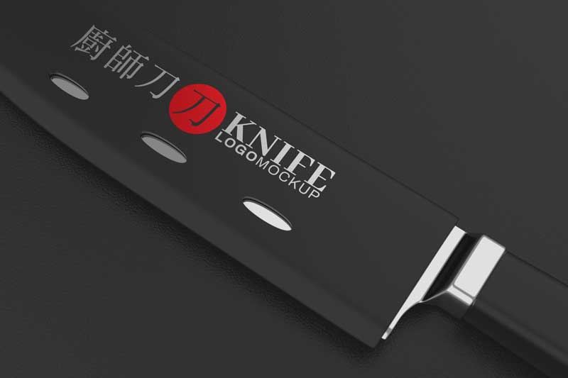 Knife Logo Mockup