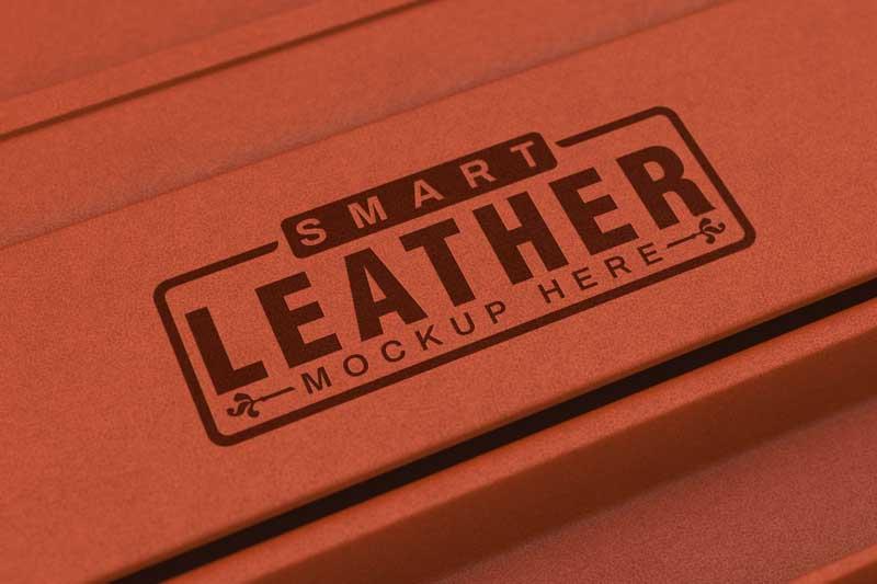 Leather Background Logo Mockup