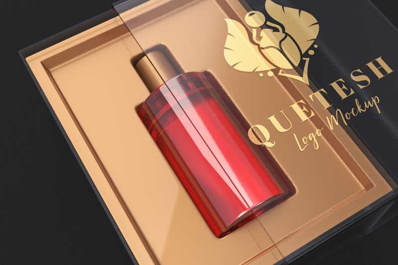 Perfume Box Logo Mockup