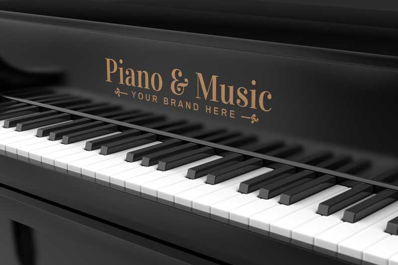 Piano Logo Mockup