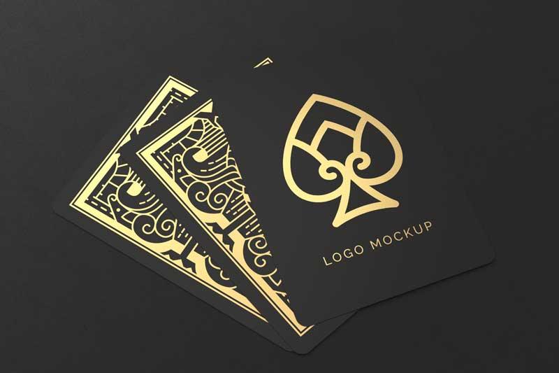 Playing Cards Logo Mockup
