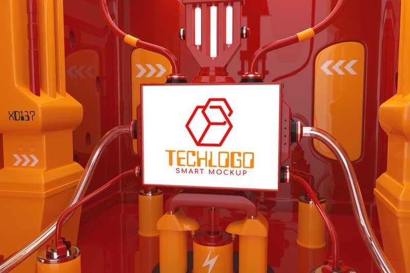 Tech Logo Mockup Sci-Fi