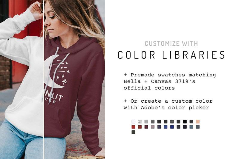 Bella Canvas Sweatshirt Mockup 3719 1