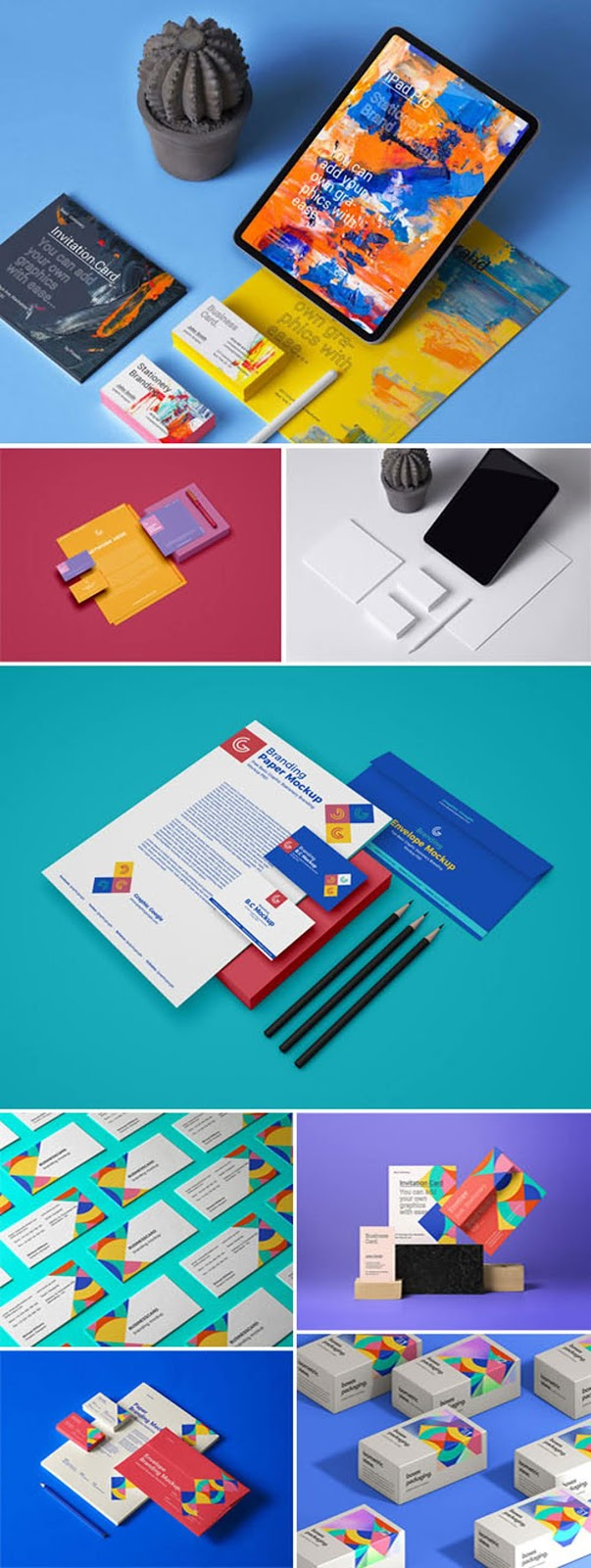 Branding Stationery PSD Mockups Collection 2