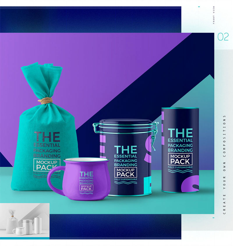Essential Packaging Branding Mockup 1351937 2
