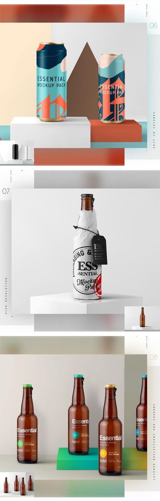 Essential Packaging Branding Mockup 1351937 3