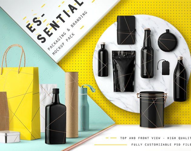 Essential Packaging Branding Mockup 1351937