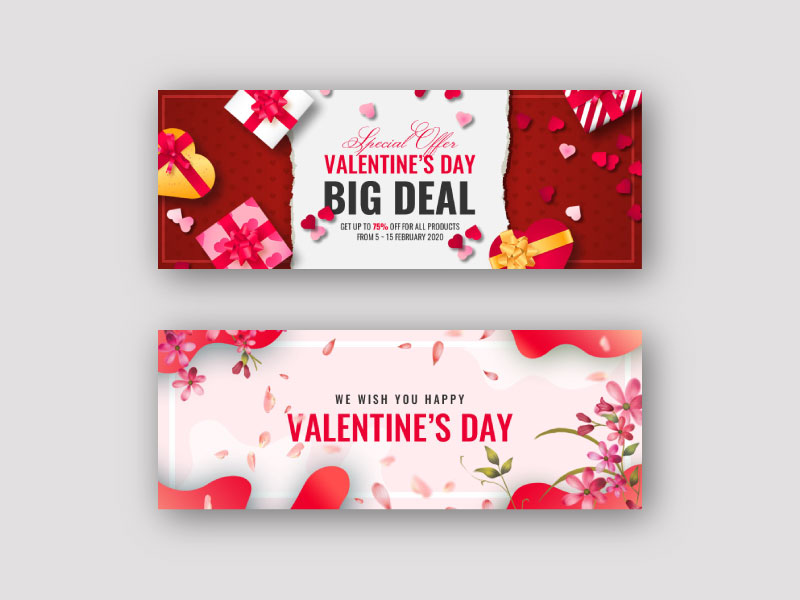 Valentine Facebook Cover & Banner Template