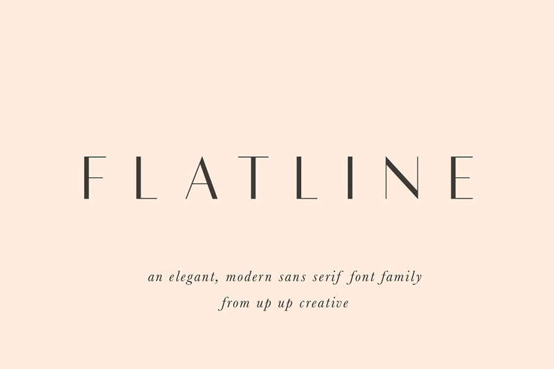 Flatline Sans Complete Font Family