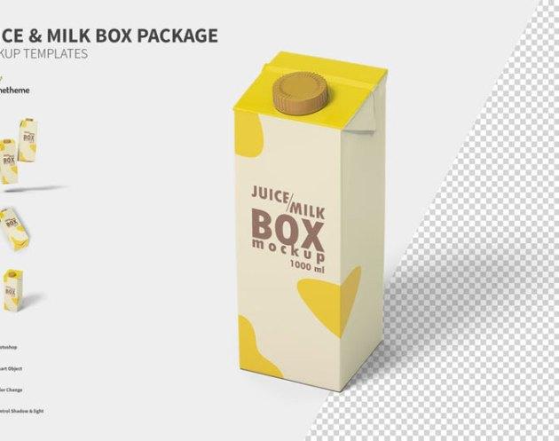 Juice and milk box Mockup FH