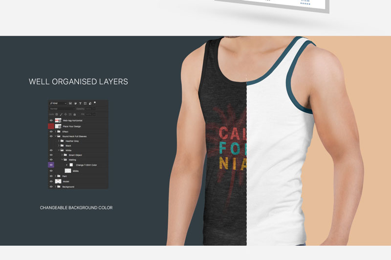 Mens Tank Top Mockup Set 4