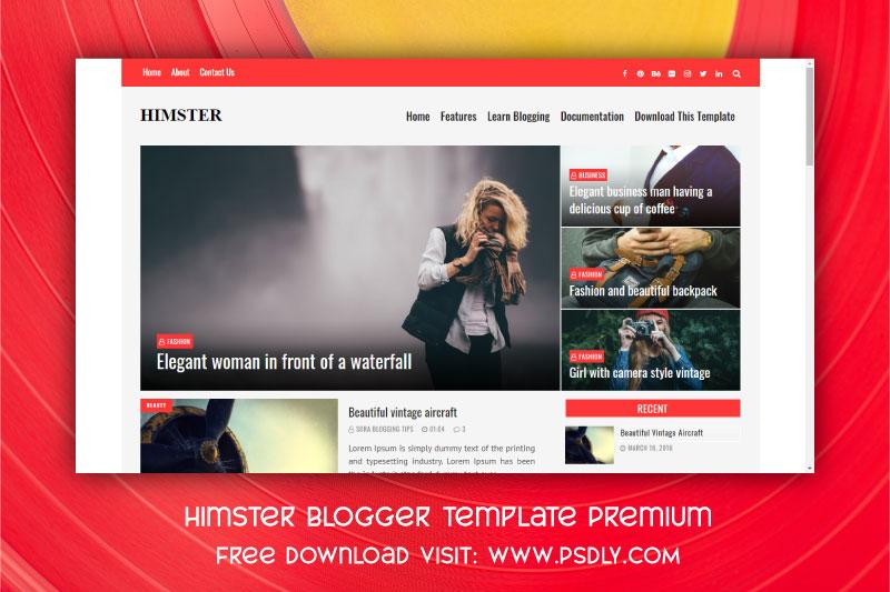Download Himster Blogger Template Premium