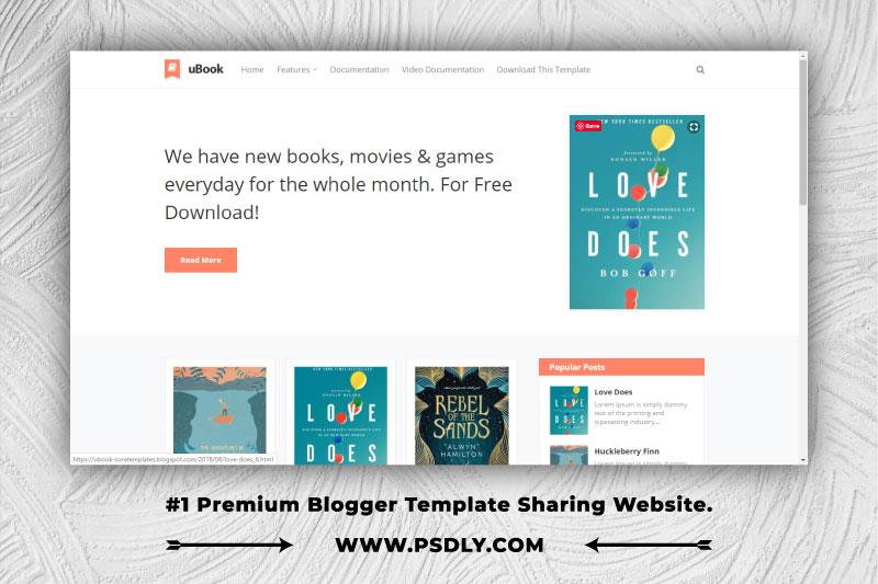 uBook Blogger Template Premium Free Download