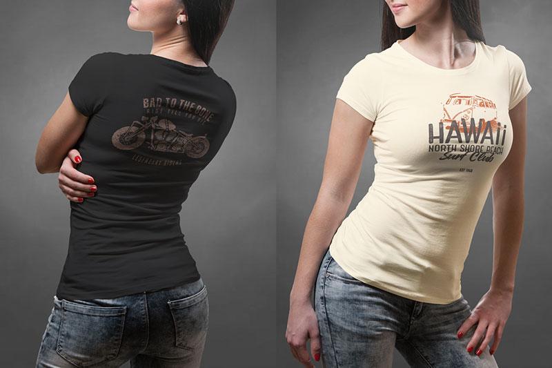 Best Female PSD T shirt Mockup For Portfolio Presentaion 2