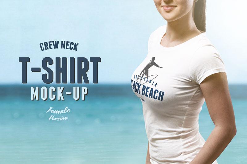 Best Female PSD T shirt Mockup For Portfolio Presentaion
