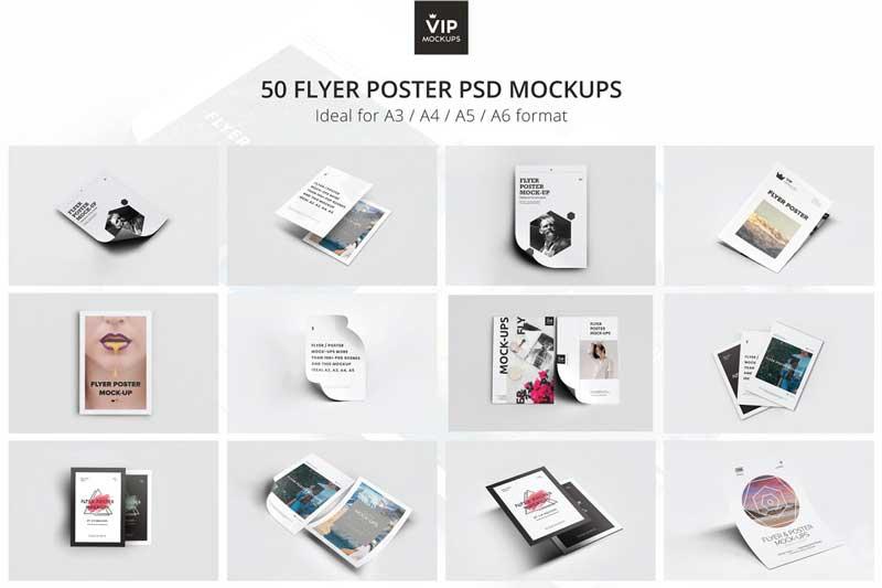 CM 50 Flyer Poster Mockups Pack