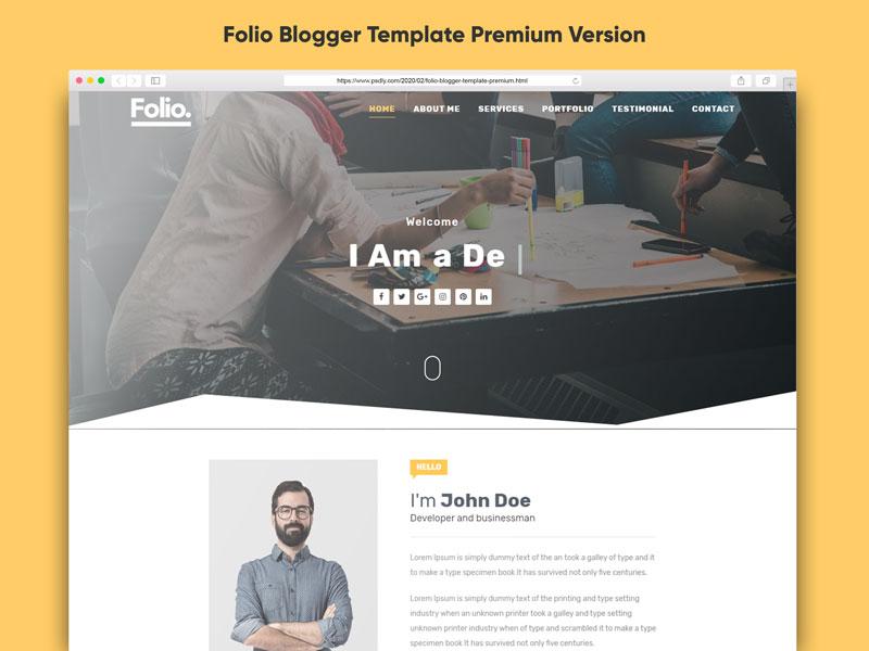Folio Blogger Template Premium Free