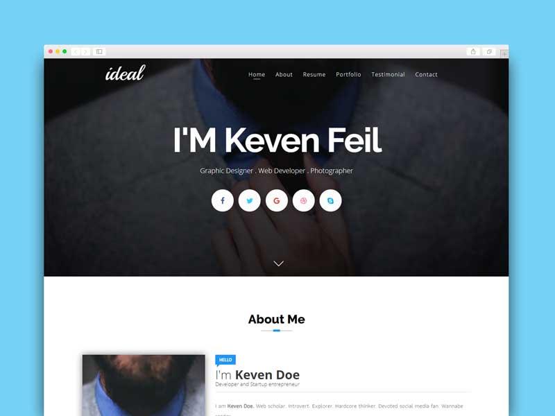 simple blogger template portfolio