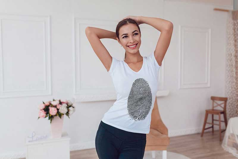 T Shirt Mock Up with Hot Model 5
