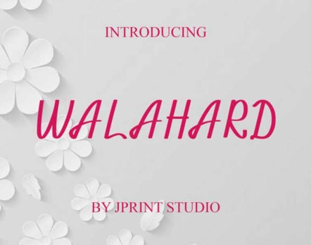 Walahard font downlaod free