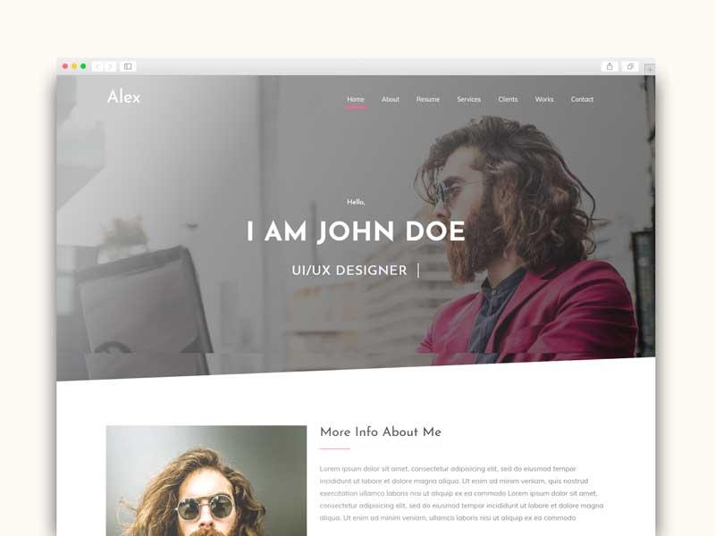 portfolio blogger template responsive