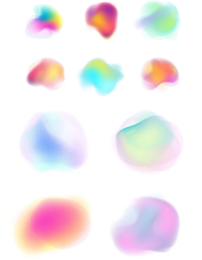 10 Gradient Shapes in Vector Download Free