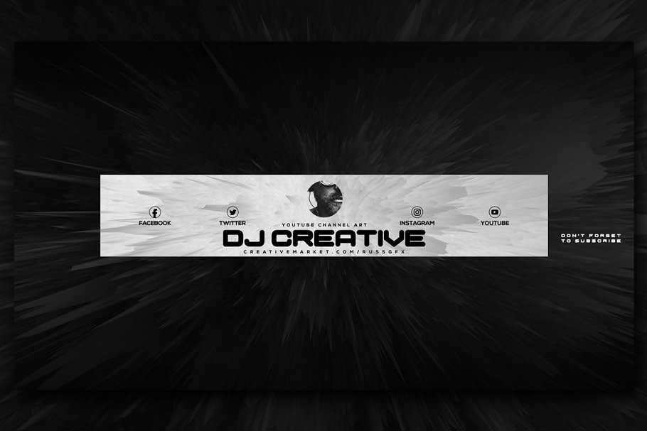 10 Youtube Channel Art Banners vol.5 2044354 Psdly