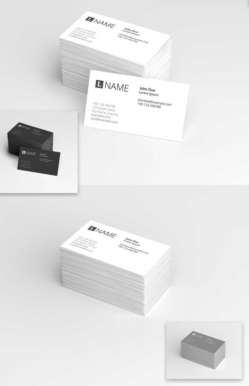 4 in 1 Business Card Mockup Set 2
