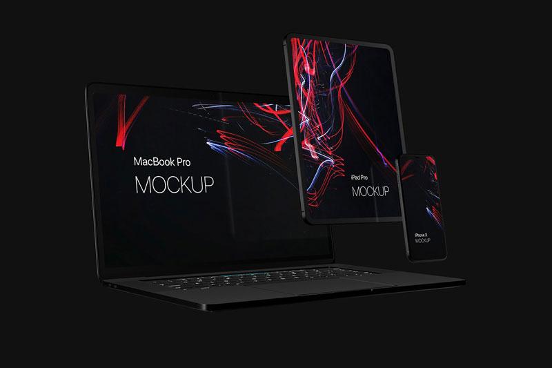 Black Devices Mockup Set 3662295