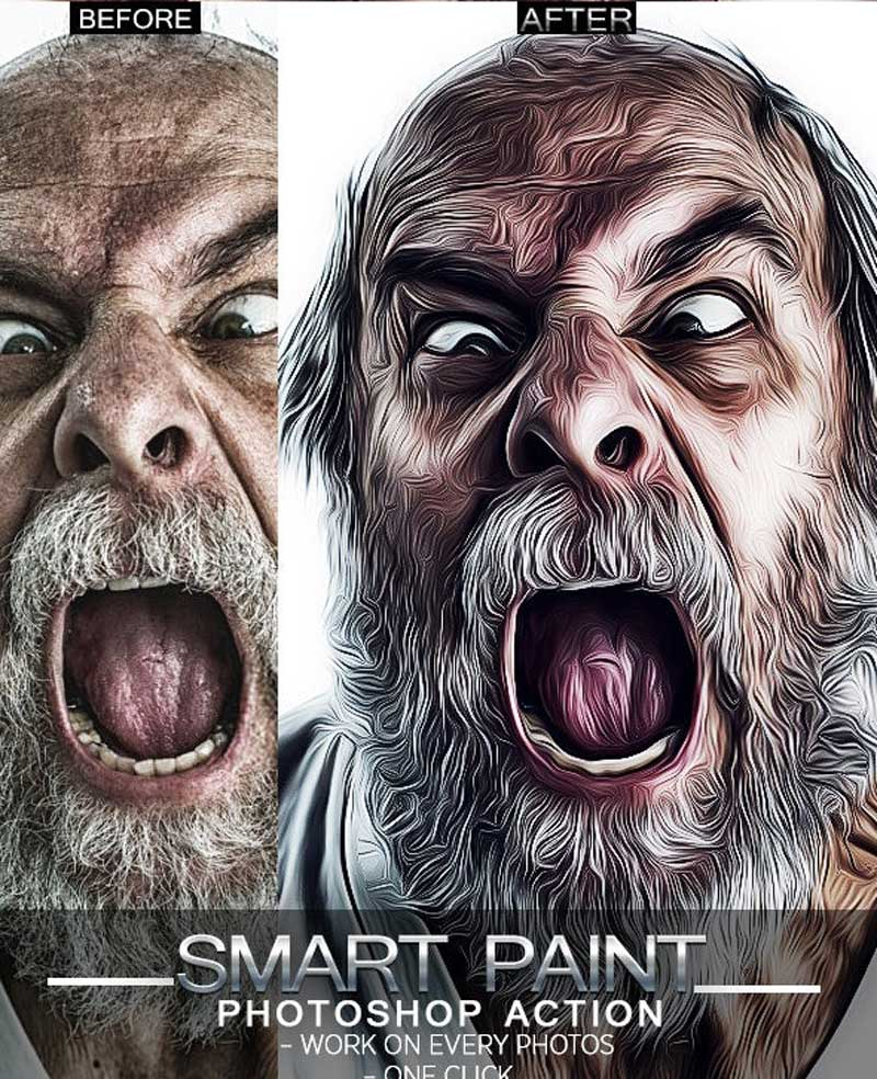 Bundle Cartoon Painting Photoshop Actions 26075116