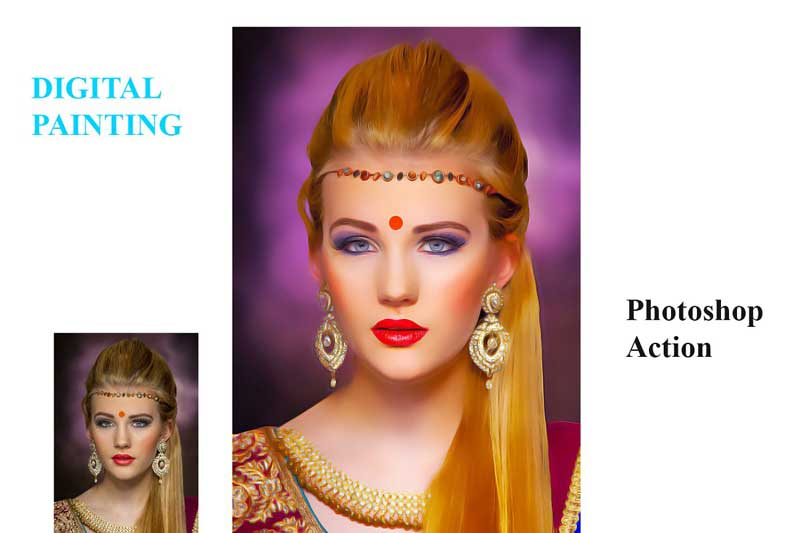 Digital Painting Photoshop Action 4557382 Free Download