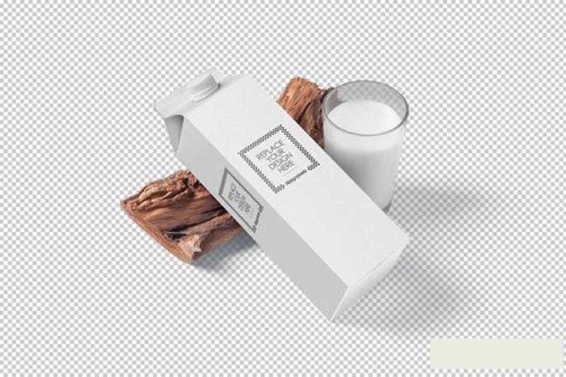 Juice Carton Box Packaging Mockups Free Now