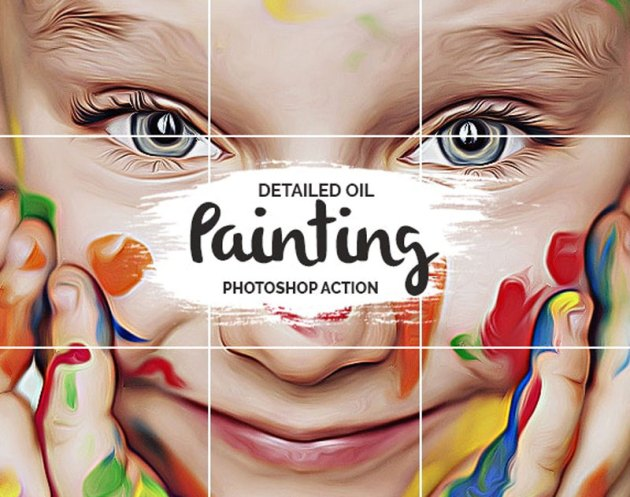 Oil Painting Photoshop Action 25789873